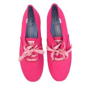 Keds Hot Pink Canvas Lace Up Sneakers size 9.5
